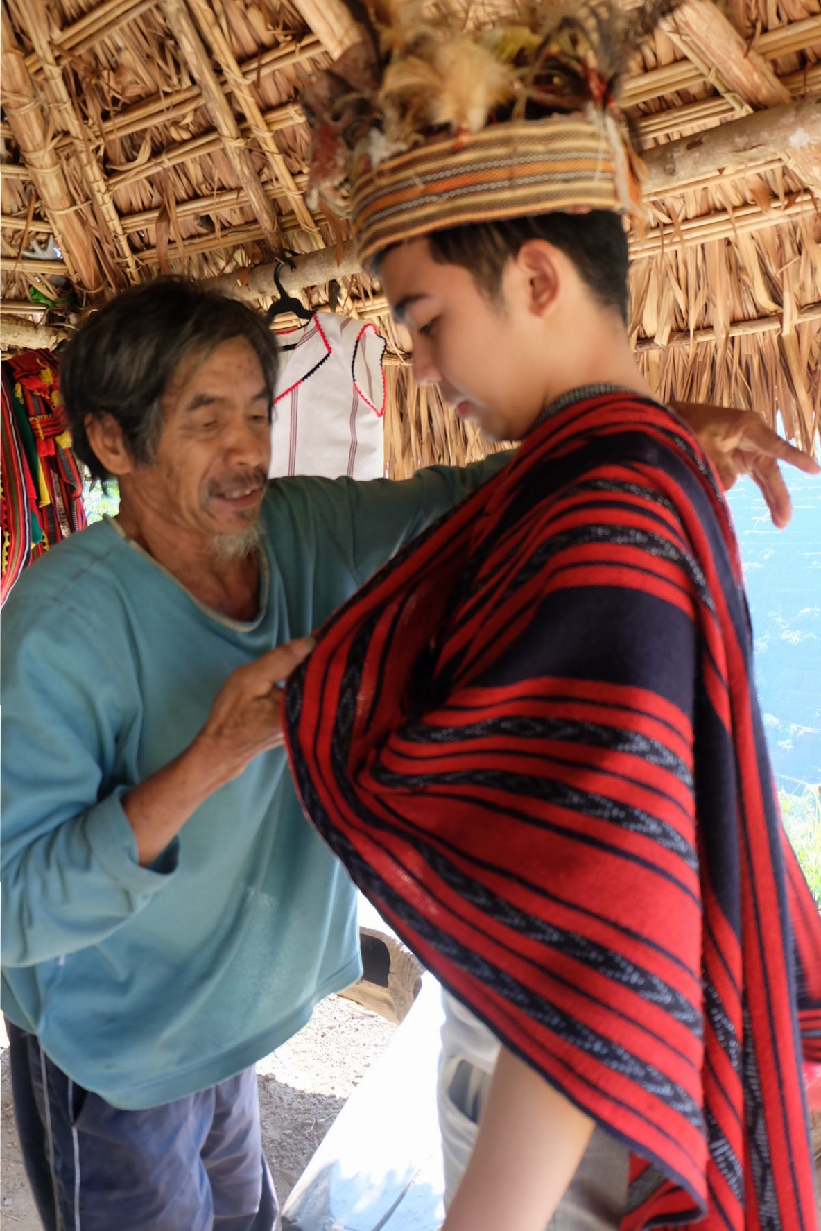 Gerard taught how to dress up- Igorot Style!